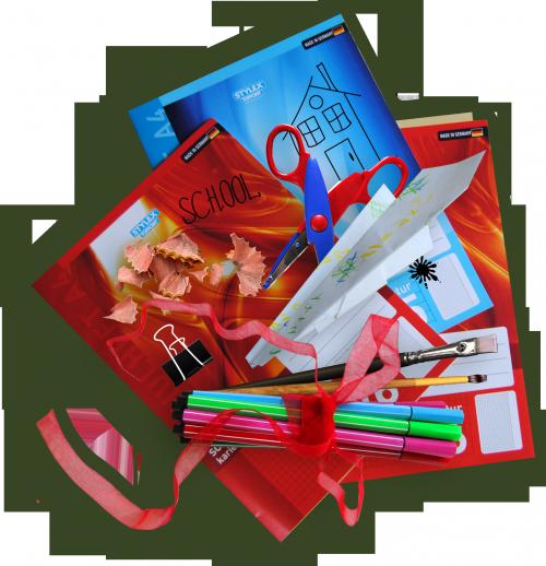 цифровой скрапбукинг, для фотографий, скрап набор, PSD шаблоны, клипарт, школа, книги, тетради, рукоделки василисы