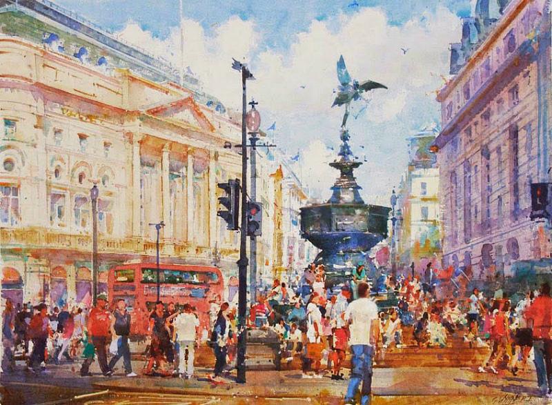 Geoffrey-wynne-watercolour-London-Picadilly-Circus.jpg
